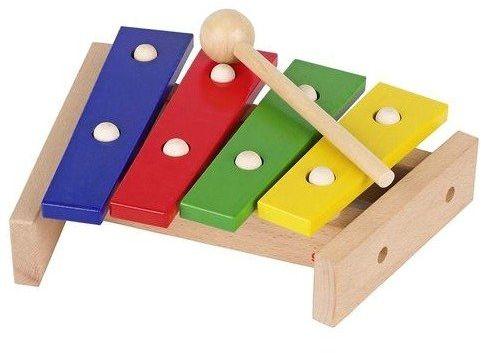 Cymbałki drewniane dla najmłodszych 61995-Goki, instrumenty muzyczne dla dzieci