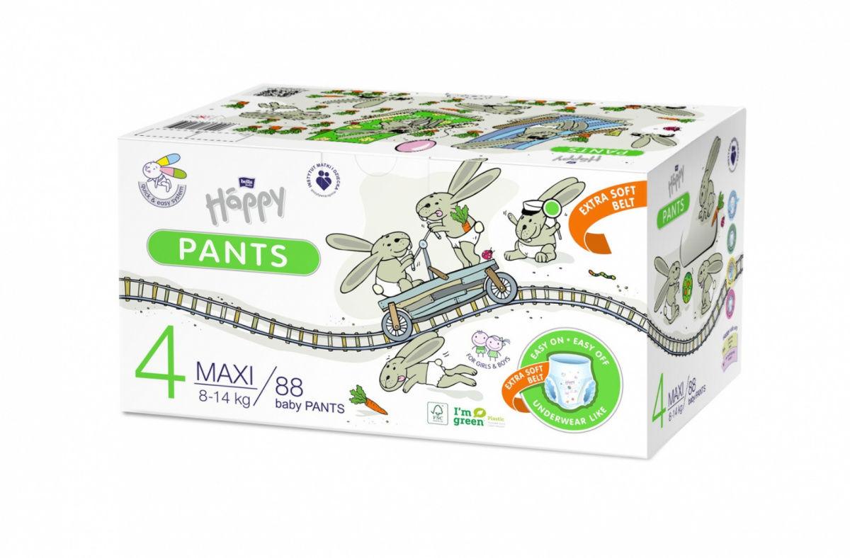 Bella Happy Pants Rozmiar 4 Box 88 szt 8-14 kg