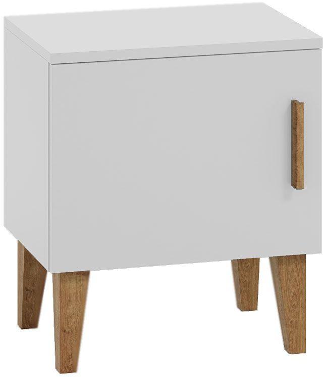 Skandynawska szafka nocna dla dziecka Maurycy 2X - biała