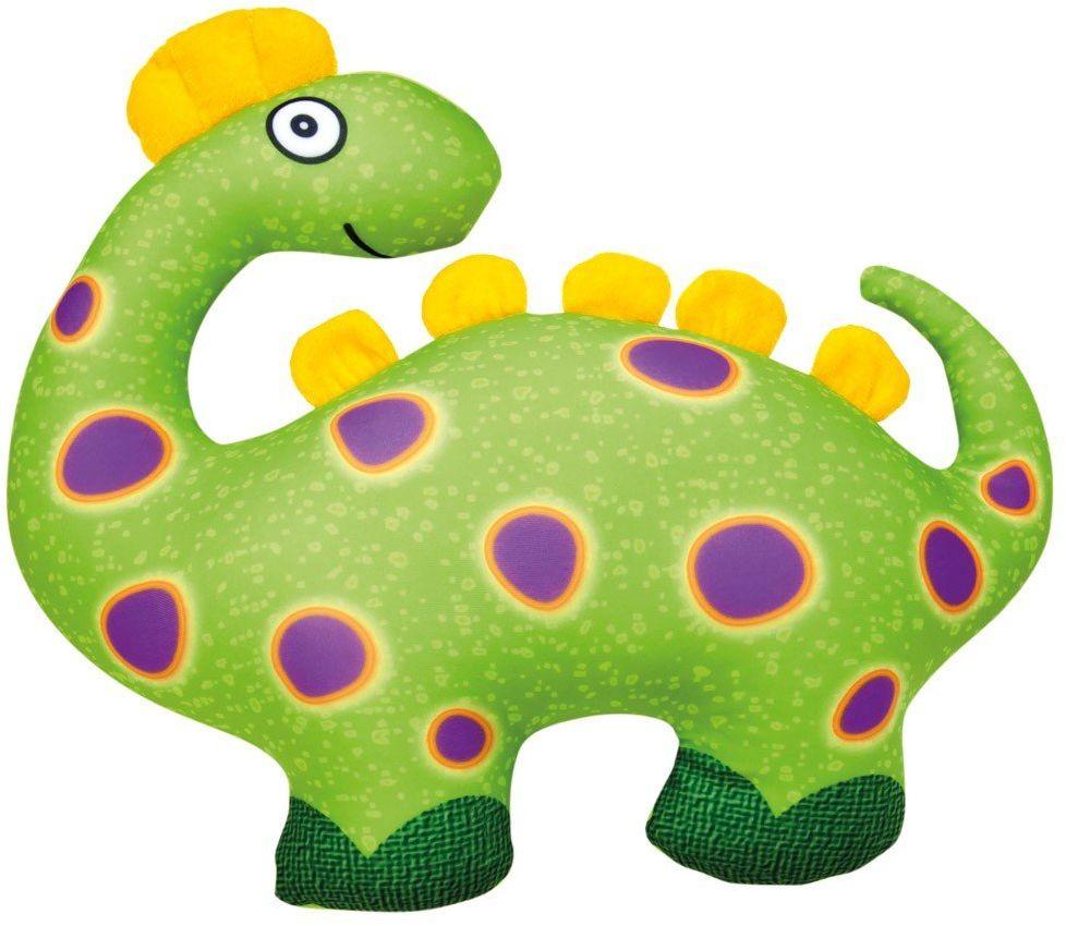 Bino & Mertens 33027 zielony dinozaur, przytulanka ze 100% poliestru, wypełniona kuleczkami polistyrenowymi do przytulania i miłości. Dla chłopców, dziewcząt i niemowląt. Rozmiar ok. 33x28,5x11 cm.