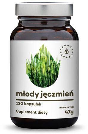 Młody Jęczmień w kapsułkach Hordeum Vulgare Aura Herbals 120 kaps