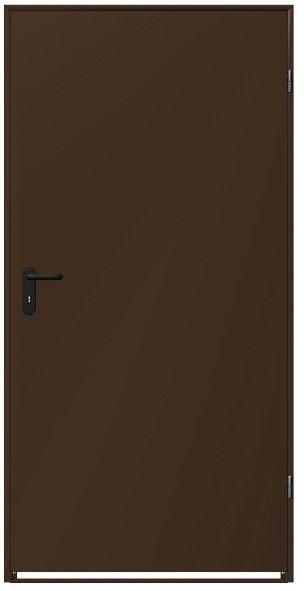 Drzwi stalowe brązowe