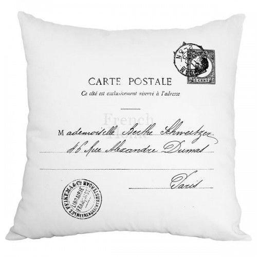 Poduszka dekoracyjna Carte Postale