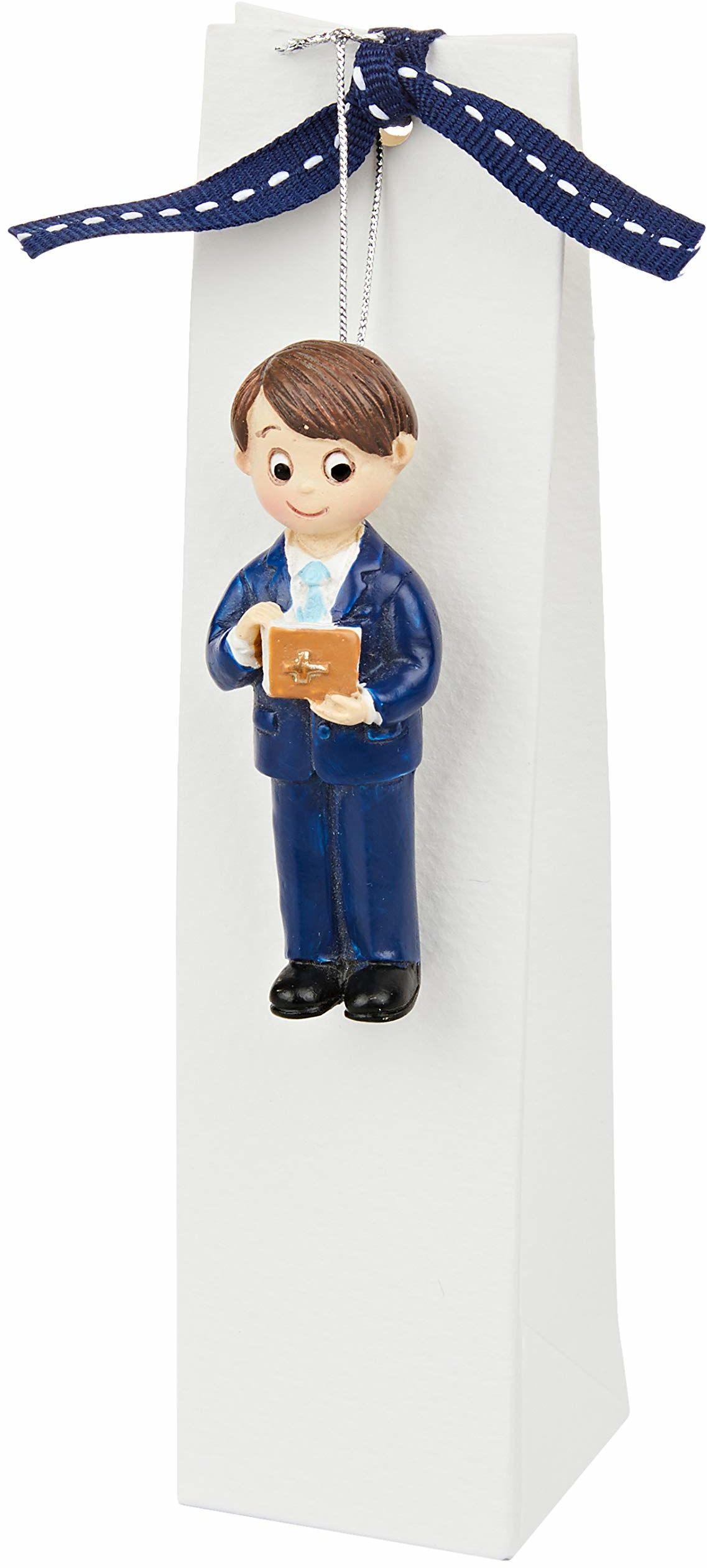 Mopec ZP6730 magnes dla dzieci, na komunię, garnitur niebieski i biblijny z 3 cukierkami, karton, wielokolorowy, rozmiar uniwersalny