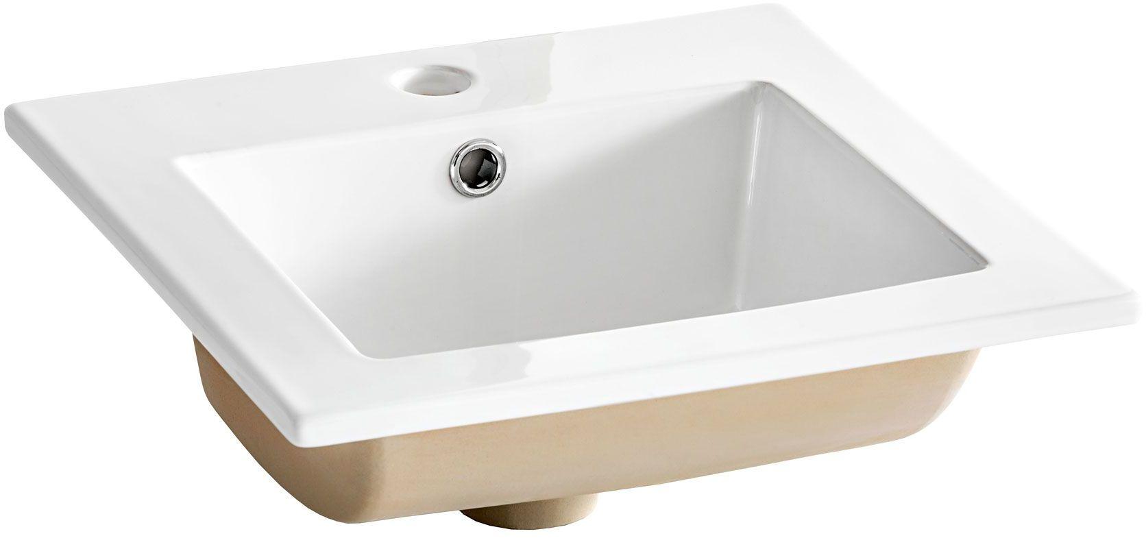 Kwadratowa umywalka meblowa Stella - Biała