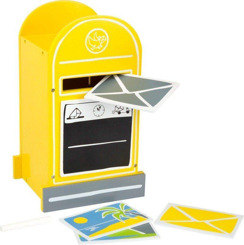 Żółta skrzynka pocztowa 11188-Small Foot, zestaw kreatywny
