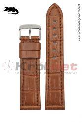 Pasek Morellato - krokodyl, brązowy