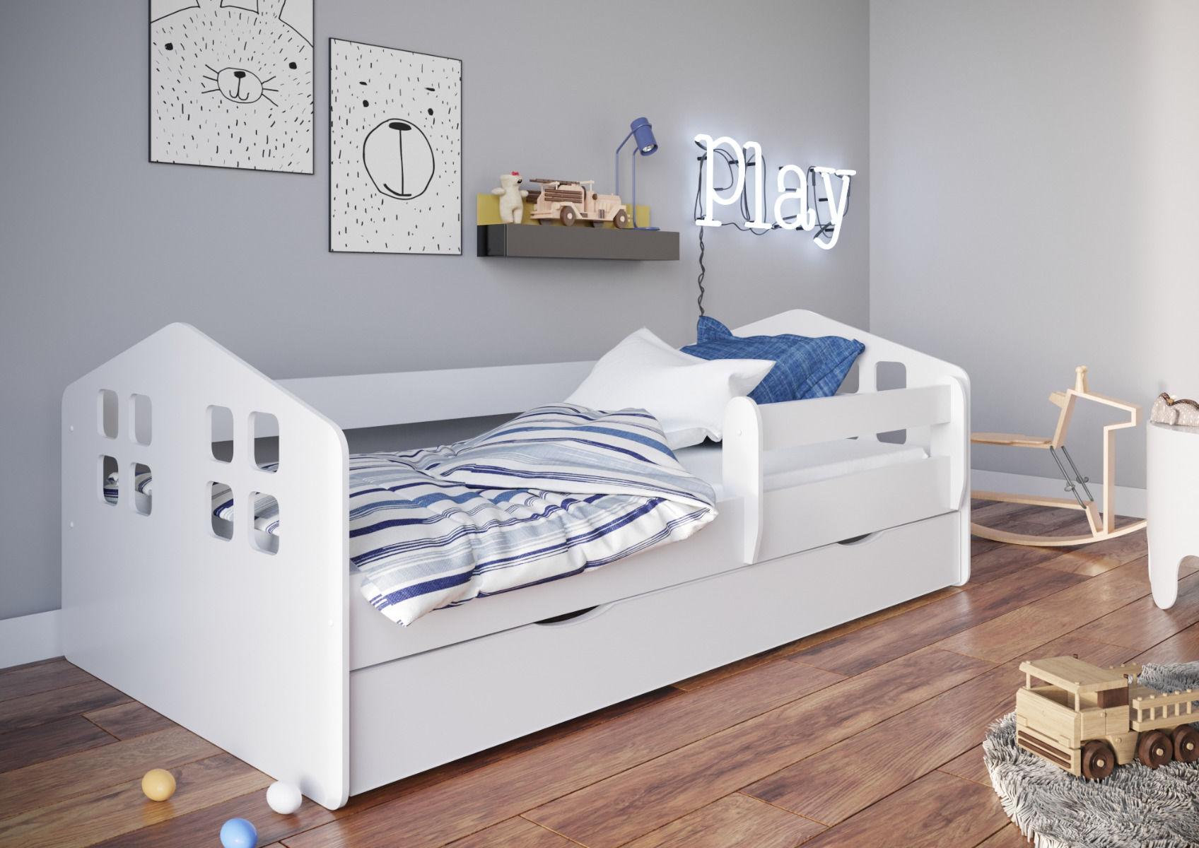 Łóżko dziecięce KACPER 160x80 białe