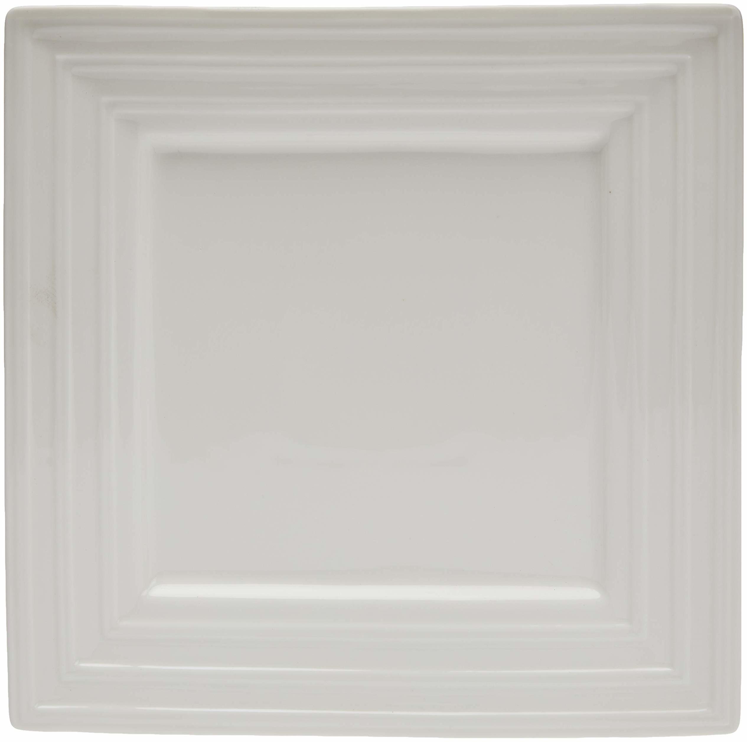 Better & Best P półmisek do serwowania, porcelana, biały, kwadratowy z gładką krawędzią środkową, wymiary 23 x 23 x 2 cm, materiał: ceramika,