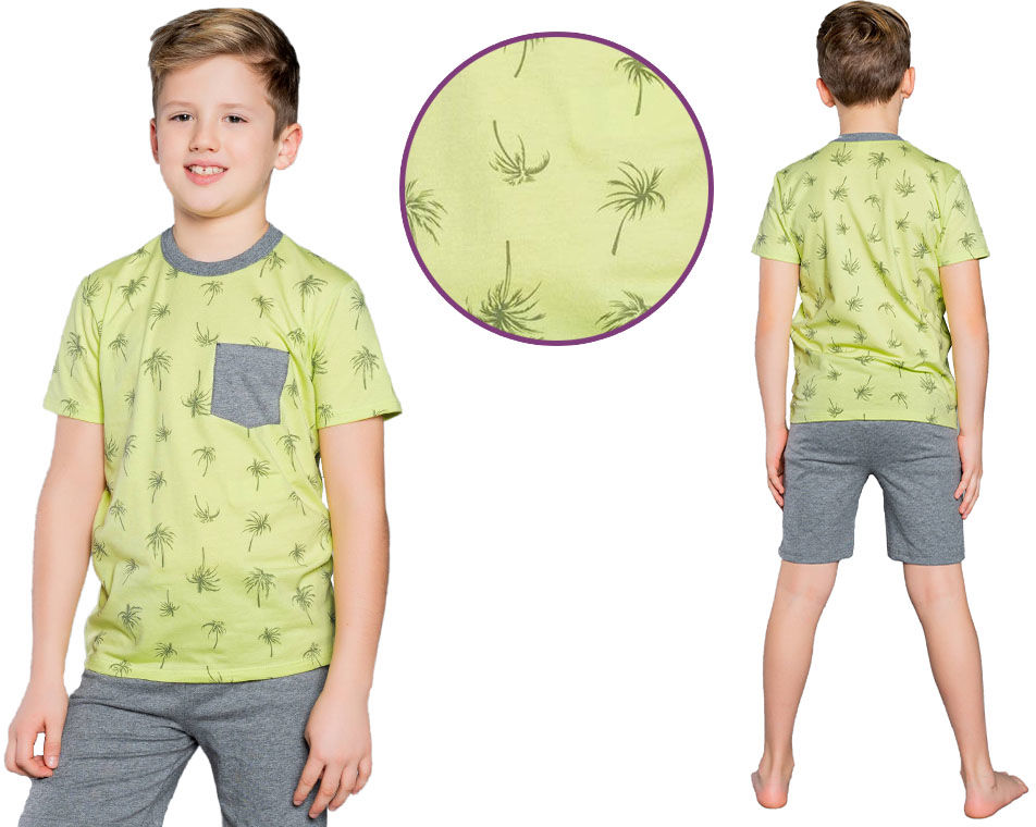 Piżama dziecięca MONSUN: limonka