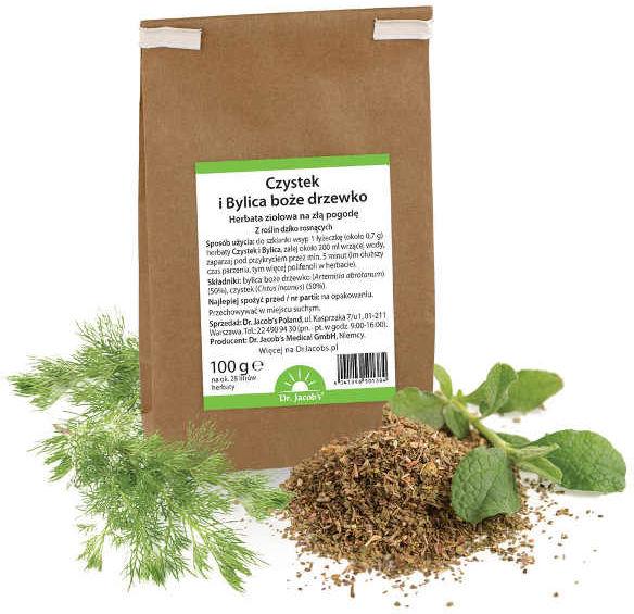 Czystek + Bylica boże drzewko Herbata ziołowa Dr. Jacobs 100g