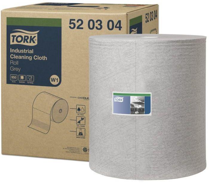 Czyściwo włókninowe Tork Premium do zabrudzeń przemysłowych w dużej roli szare