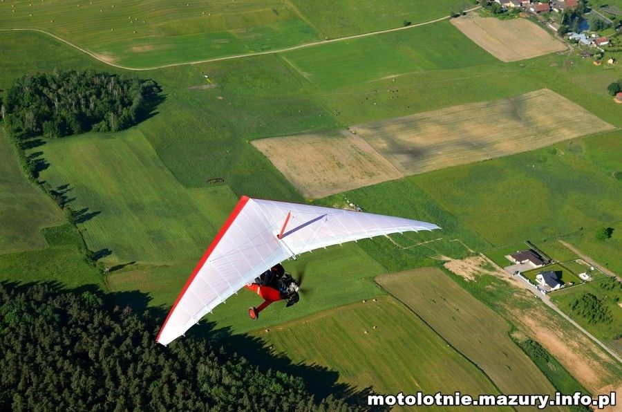 Lot motolotnią - Giżycko - 10 minut