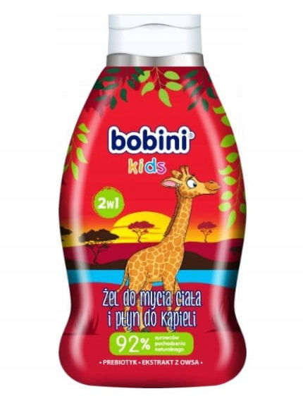 Bobini Baby Płyn do kąpieli i mycia Truskawka 660m
