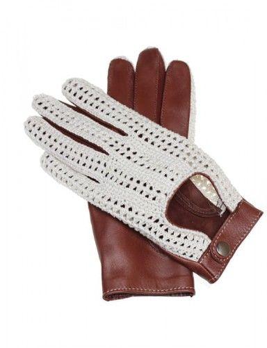 Unikalne damskie rękawiczki samochodowe w stylu włoskim, rękawiczki z tkaną siatką