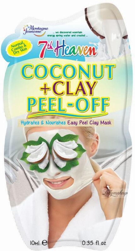 7th Heaven (Montagne Jeunesse) - Coconut + Clay Peel Off - Maseczka z olejem kokosowym - Peel Off