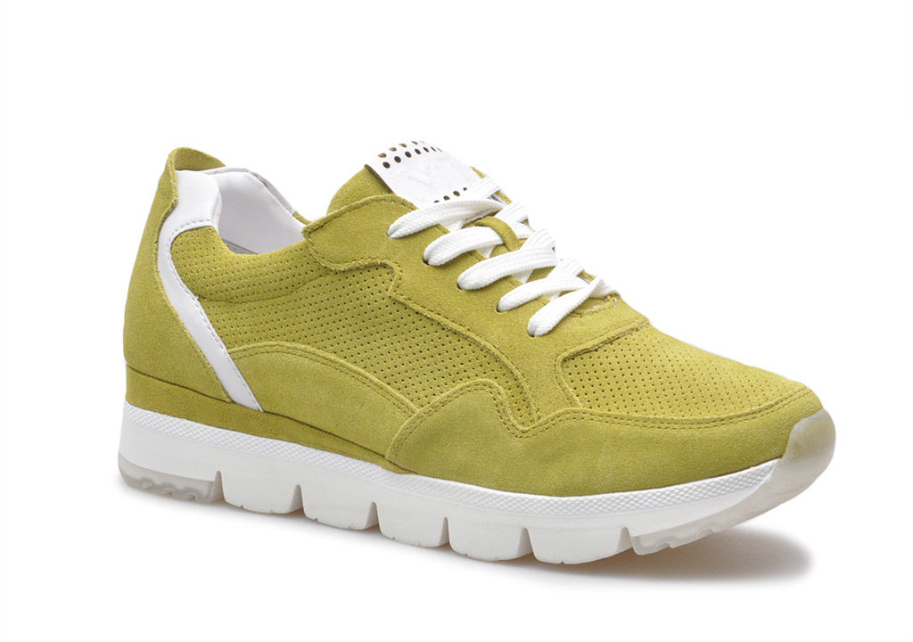 Sneakersy Marco Tozzi 2-23754-34 Limonkowe zamsz