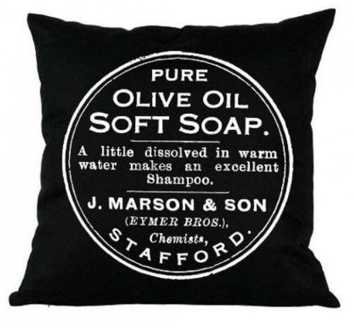 Poduszka dekoracyjna Soap czarna