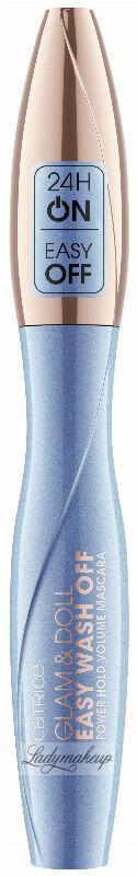 Catrice - GLAM & DOLL - Easy Wash Off Power Hold Volume Mascara - Łatwozmywalny, pogrubiający tusz do rzęs - 010 ULTRA BLACK