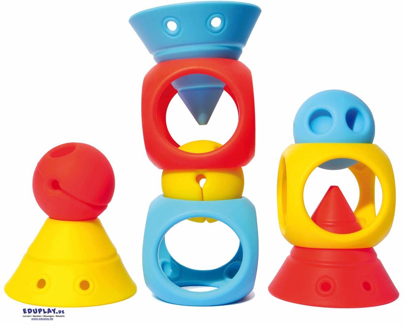 Moluk 2843430 Building Genius, zabawka edukacyjna, zabawka konstrukcyjna, klocki z miękkiego silikonu, od 0+ miesięcy