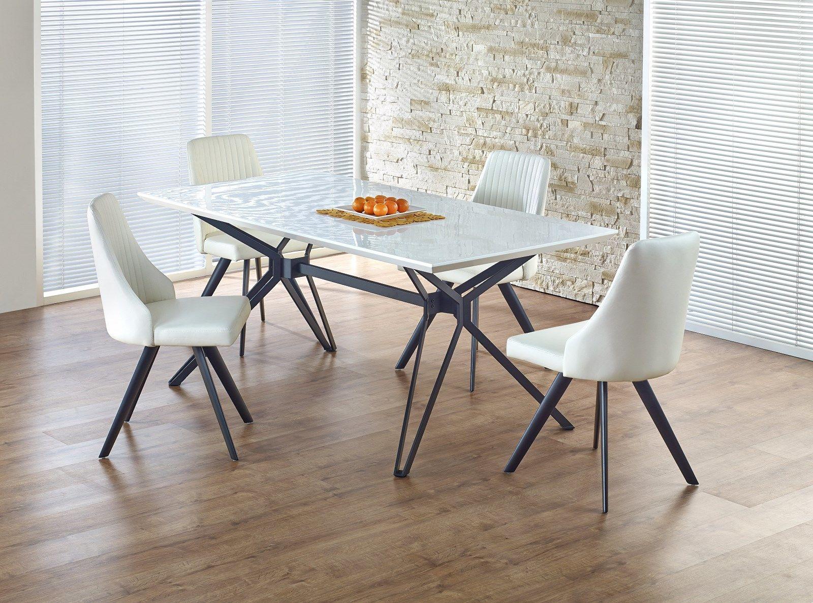 Zestaw: stół Pascal (160x90x76 cm) i 4 krzesła K206 Halmar