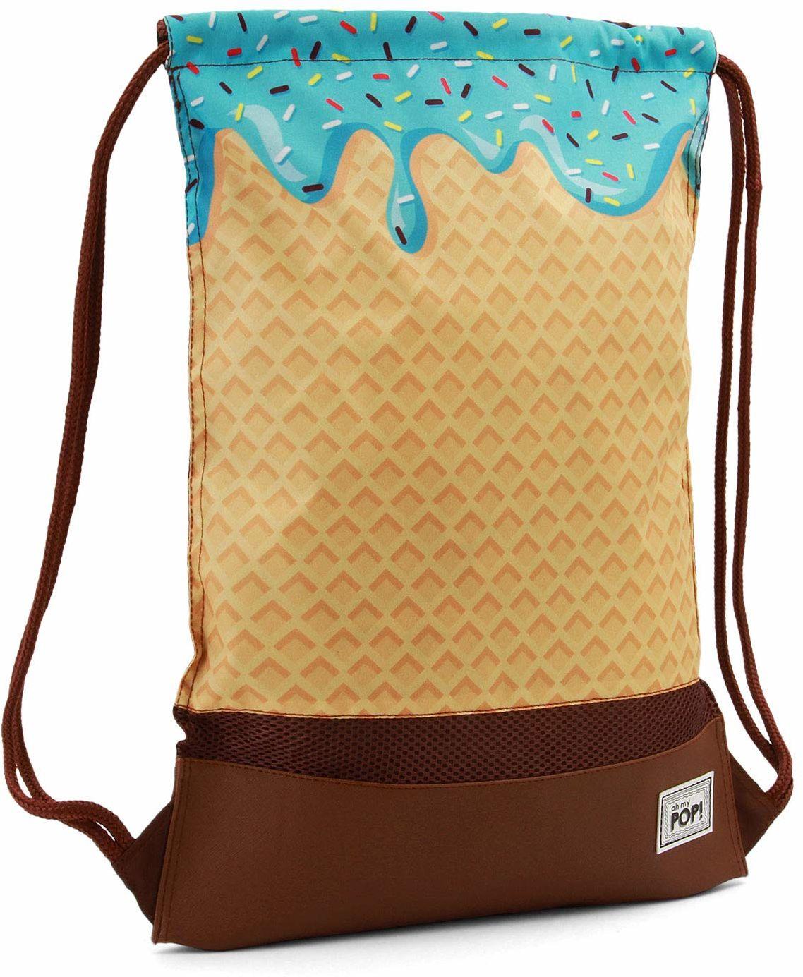 Oh My Pop Pop! Ice Cream-Storm Drawstring Bag worek gimnastyczny, 48 cm, beżowy