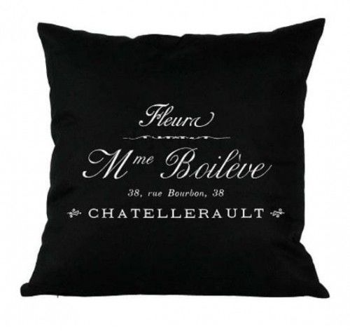 Poduszka dekoracyjna Madame czarna