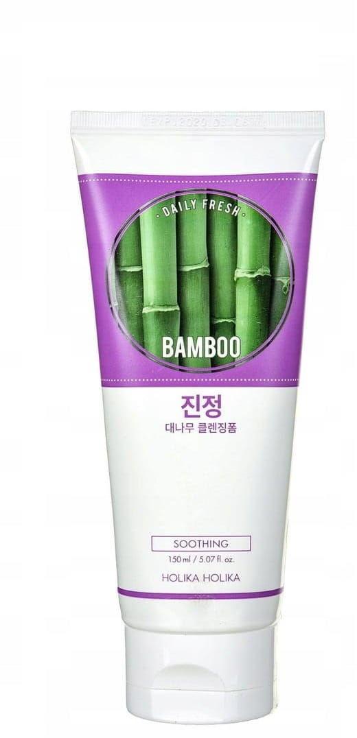 Holika Holika Daily Fresh Nawilżająca, matująca pianka do mycia twarzy z bambusem 150-ml