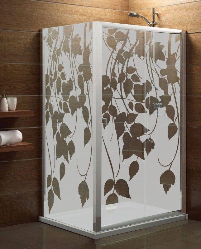 Maskująca naklejka mrożone szkło: Liście