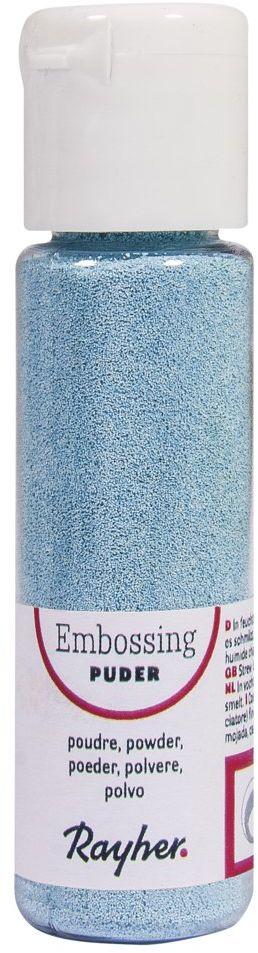 RAYHER 28000356, puder do embossingu, butelka 20 ml, kryjący, jasnoniebieski
