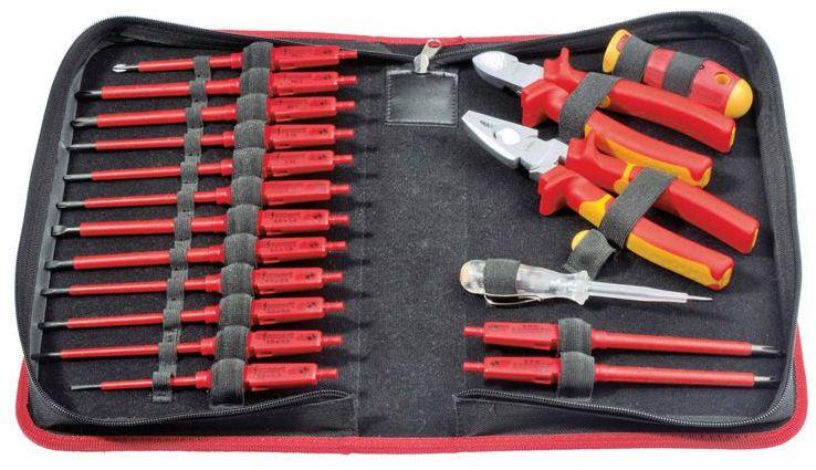 Zestaw 14 wkrętaków z wymienną rękojeścią izolowane 1000V E-Smart + kombinerki izolowane + obcinaczki izolowane 6391904