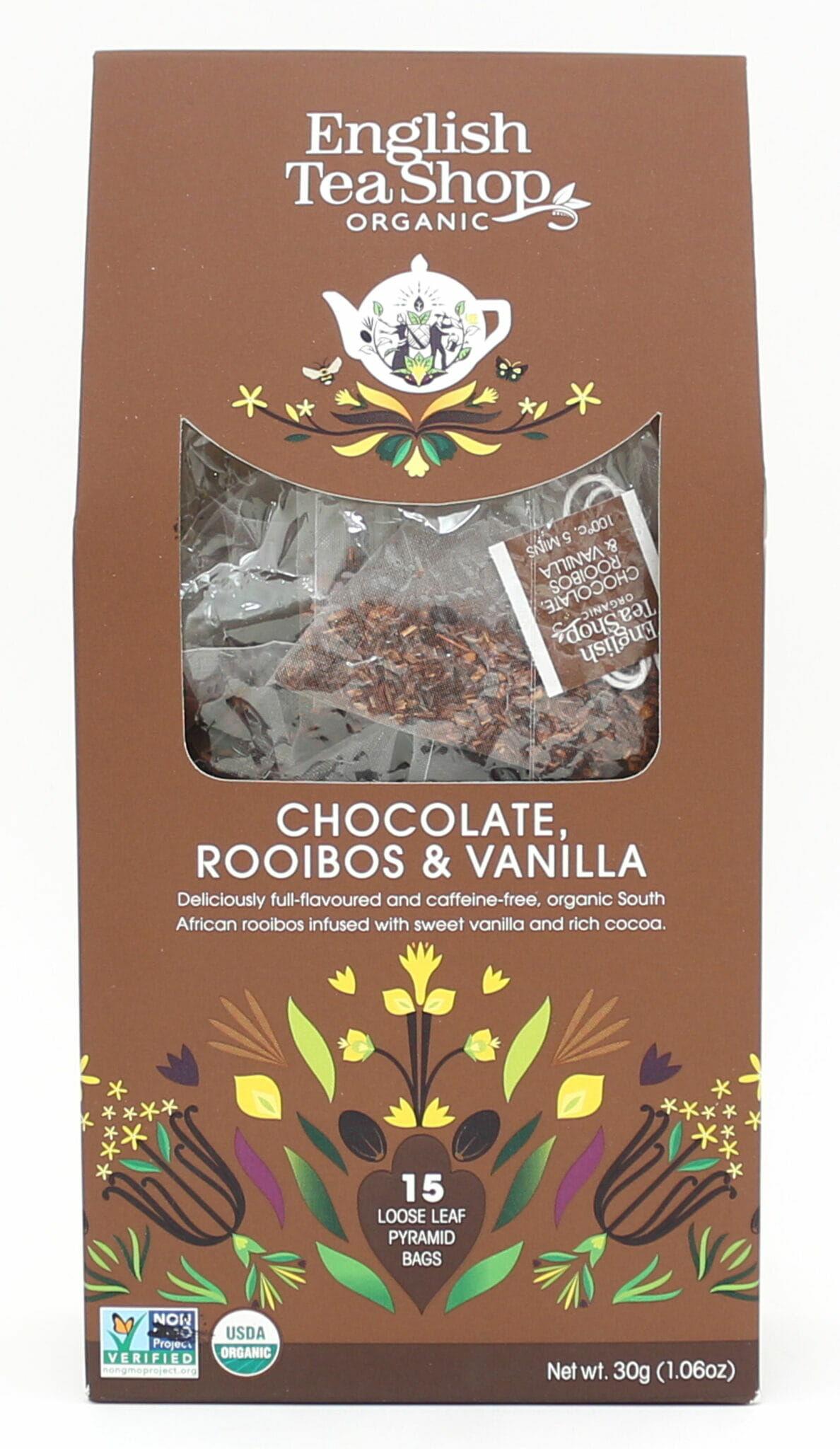 English Tea Shop Chocolate Rooibos & Vanilla  15 piramidek