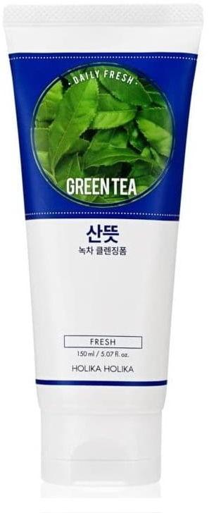 Holika Holika Daily Fresh Oczyszczająca pianka do mycia twarzy zielona herbata 150 ml