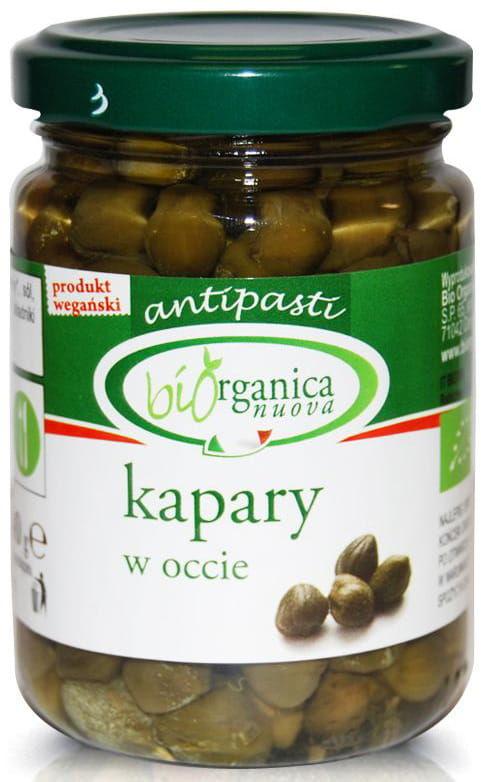 Kapary marynowane bio 140 g (90 g) (słoik) - bio organica italia