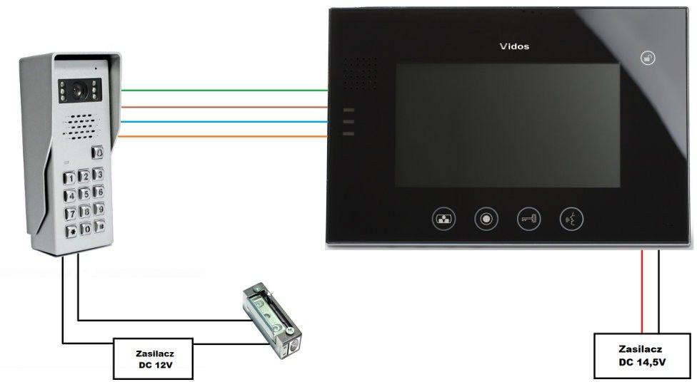 Wideodomofon vidos m670w / s50d - szybka dostawa lub możliwość odbioru w 39 miastach
