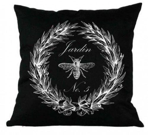 Poduszka dekoracyjna Jardin czarna