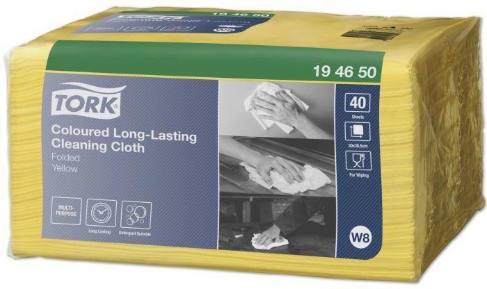 Żółte ściereczki wielorazowe do czyszczenia Tork Premium