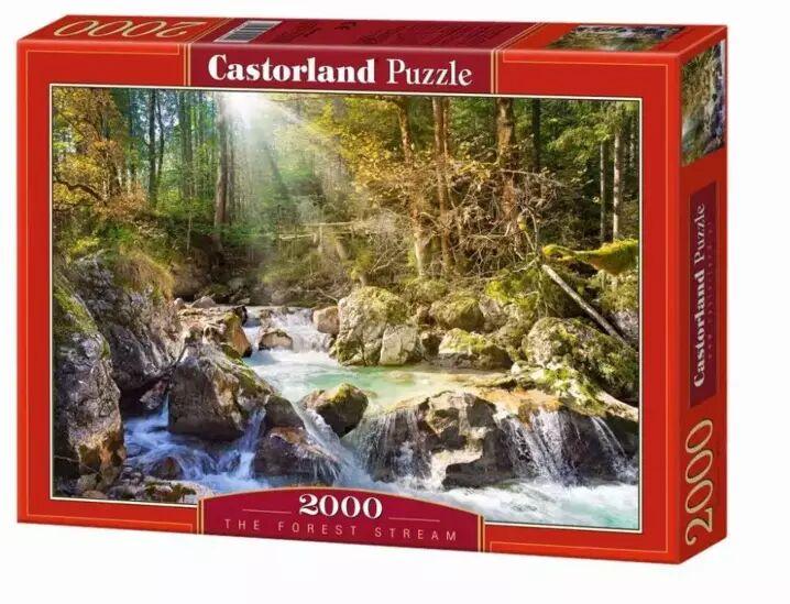 Puzzle 2000 Strumyk w lesie CASTOR - Castorland