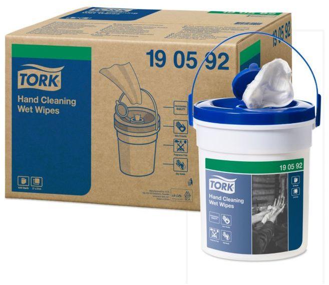 Czyściwo włókninowe Tork Premium w roli nasączane do trudnych zabrudzeń rąk, białe