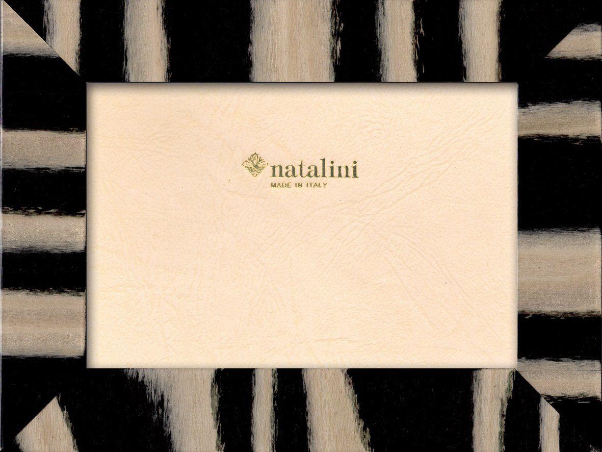 Natalini Marquetry ramka na zdjęcia wyprodukowana we Włoszech, tulipan, czarna, 10 cm x 15 cm