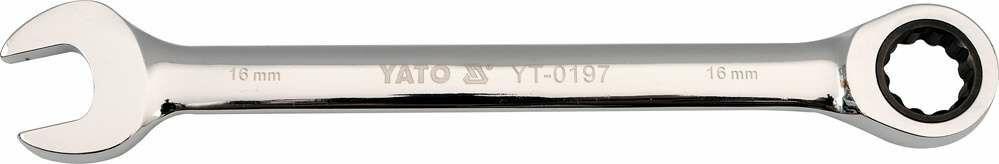 Klucz płasko-oczkowy z grzechotką 15 mm Yato YT-0196 - ZYSKAJ RABAT 30 ZŁ