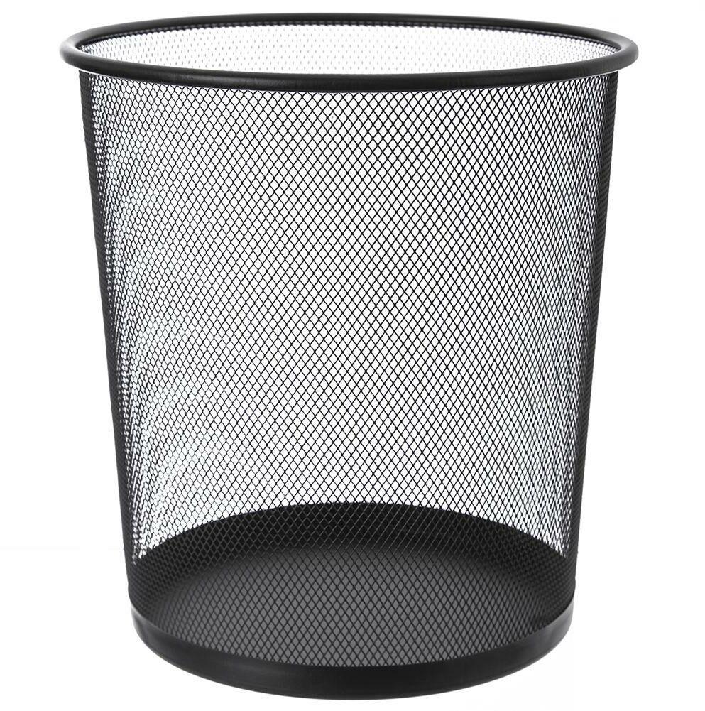 Kosz na odpady śmieci biurowy metalowy czarny 26x28 cm