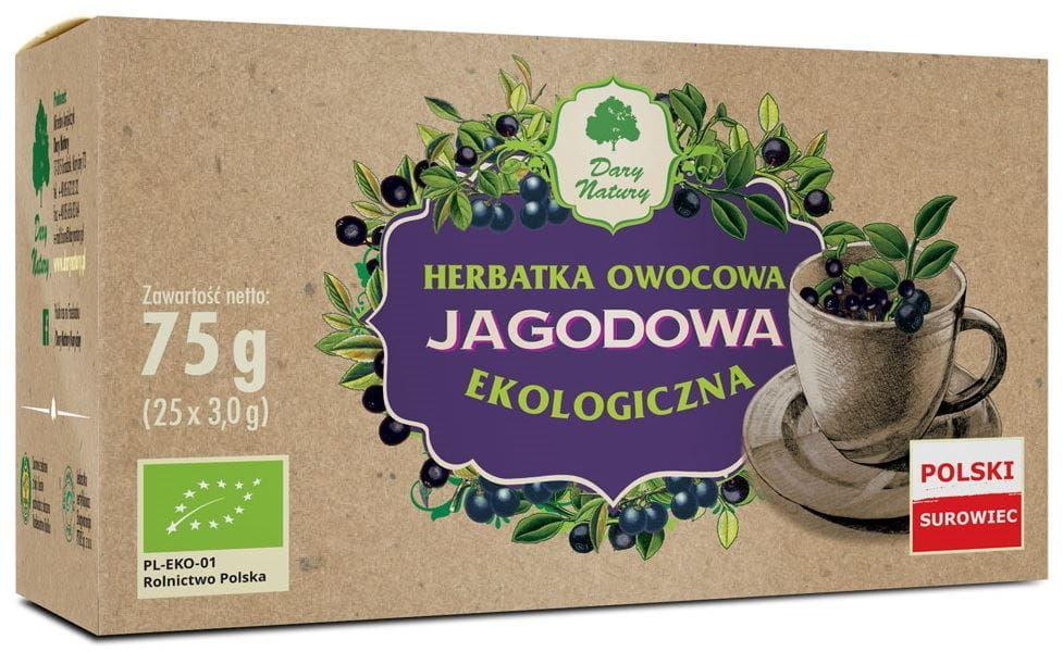 Herbatka jagodowa bio 25 x 3 g - dary natury