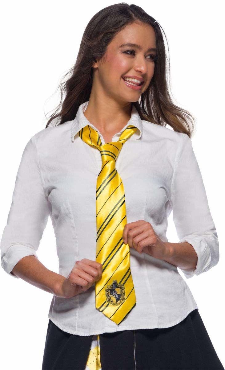 Rubie''s Oficjalny krawat Harry Potter Hufflepuff Deluxe, akcesoria kostiumowe dla dorosłych / dzieci jeden rozmiar wiek 6 lat