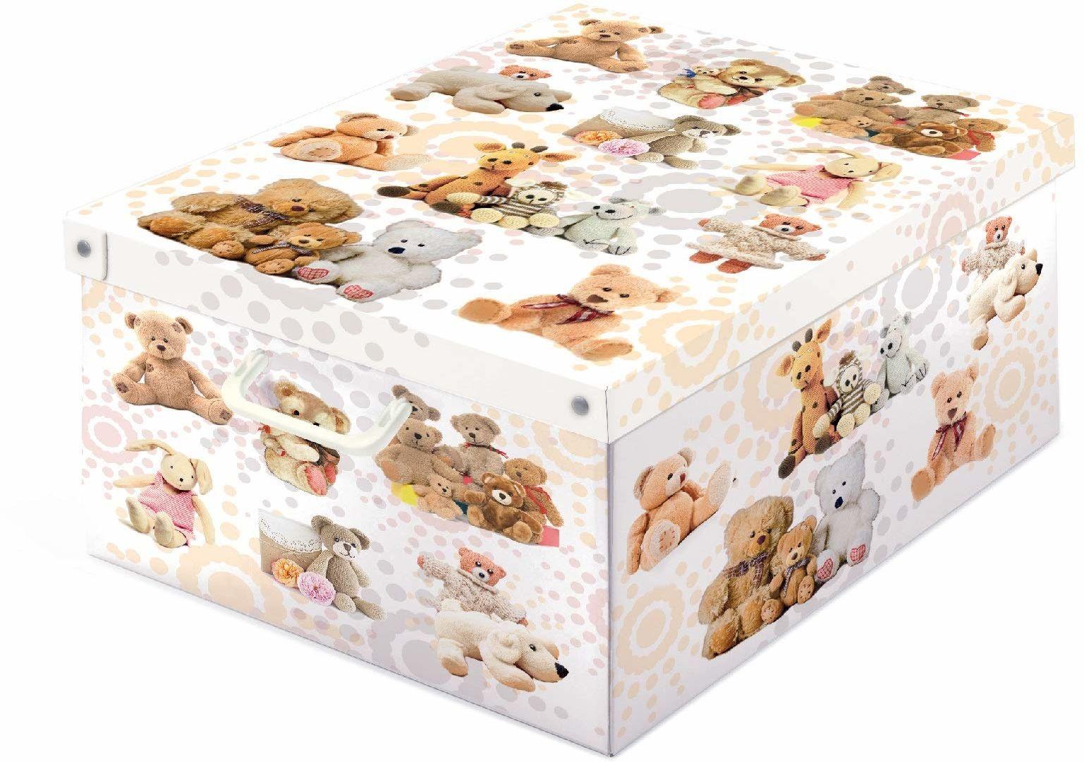 Kanguru la coperta con le maniche Collection PELUCHES pudełko do przechowywania, wielokolorowe, 39 x 50 x 24 cm