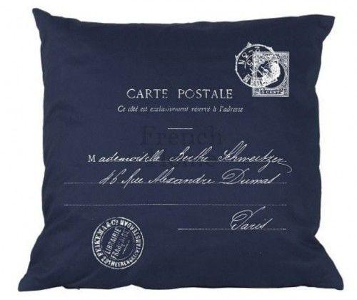 Poduszka w stylu francuskim Carte Postale