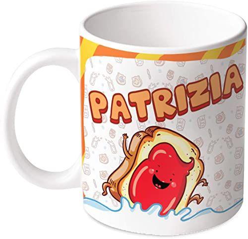 M.M. Group Filiżanka z imieniem i znaczeniem Patrizia, 30 ml, ceramika, wielokolorowa