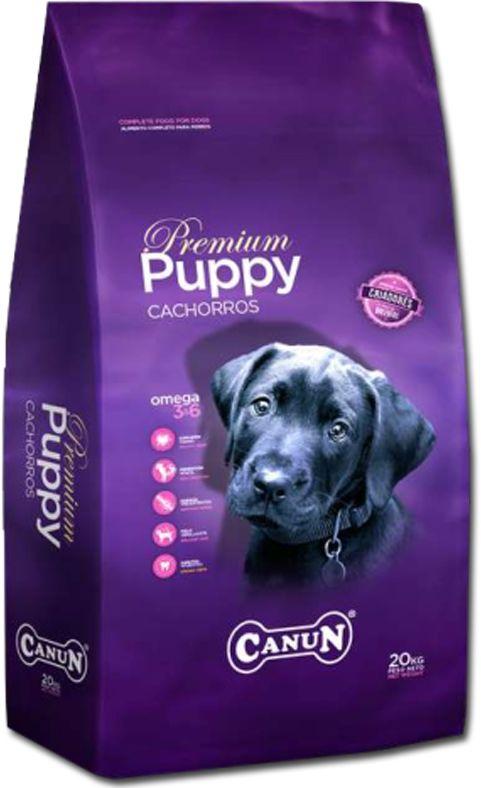 Karma dla szczeniąt Premium Canun Puppy 4 kg z hydralizowanym białkiem z kurczaka,(mięso min.30%),ryżem,jajkiem i ekstraktem z juki Schidigera