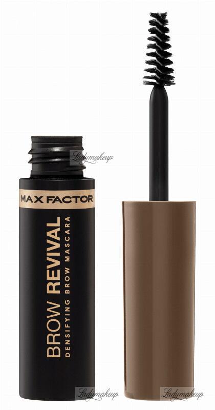 Max Factor - BROW REVIVAL - DENSIFYING BROW MASCARA - Zagęszczający tusz do brwi - 002 SOFT BROWN