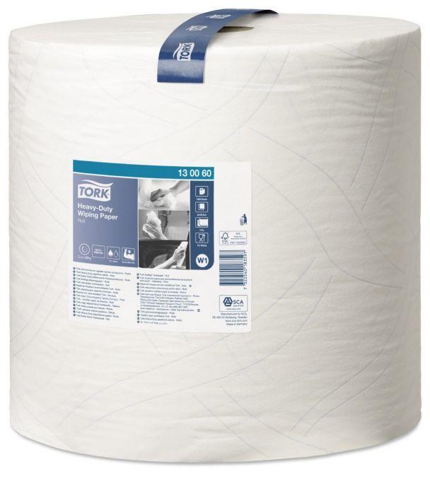 Czyściwo papierowe wielozadaniowe Tork Premium do trudnych zabrudzeń w dużej roli białe